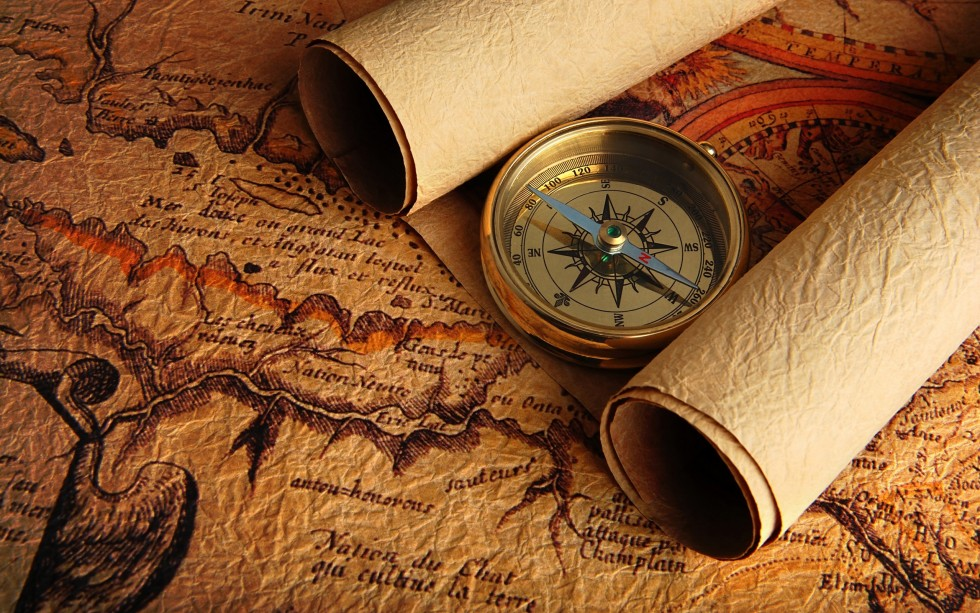 Compass-And-Old-Map